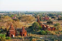 Bagan linia horyzontu, Myanmar Obrazy Stock