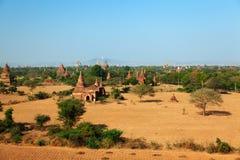 Bagan linia horyzontu, Myanmar Obrazy Royalty Free