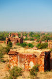 Bagan linia horyzontu, Myanmar Fotografia Stock