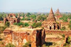 Bagan linia horyzontu, Myanmar Zdjęcie Royalty Free