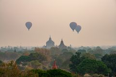Bagan Mandalay Myanmar This is het Boeddhisme stock fotografie