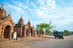 BAGAN -MAY 4 : Temples in Bagan on MAY 4,2013, Bagan, Myanmar. Stock Photo