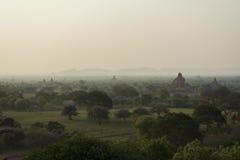 Bagan morgens, Myanmar Stockbilder