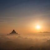 Αρχαίοι βουδιστικοί ναοί του βασίλειου Bagan στην ανατολή Myanmar Στοκ Εικόνες