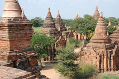 Bagan Myanmar. Temples in Bagan  Myanmar (Burma Royalty Free Stock Images