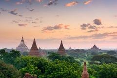 Bagan Myanmar Ancient Pagodas Stock Photos