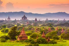 Bagan, Myanmar Ancient Temple Landscape Royalty Free Stock Photos