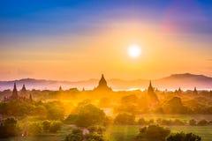 Bagan, Myanmar Ancient Temple Landscape Stock Photography