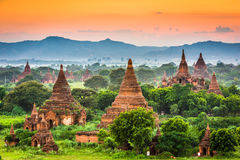 Bagan, Myanmar Ancient Temples Stock Photo