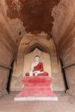 Bagan Myanmar, Buddha i tempel Arkivbilder