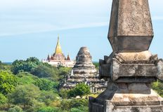 Bagan, Myanmar (Burma. View of some buddhist temples and of Anada Temple in the royalty free stock photos