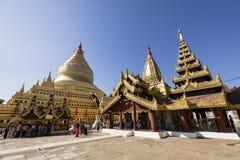 Bagan, Myanmar, le 29 décembre 2017 : La pagoda de Shwezigon dans Bagan Image stock