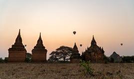 Bagan, Myanmar - March 3, 2020 : Hot Air Balloons sunrise
