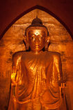 BAGAN, MYANMAR - MAT 4: Standing Buddha Kassapa at south facing Stock Image