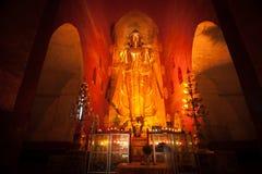 BAGAN, MYANMAR - MAT 4: Standing Buddha Kassapa at south facing Royalty Free Stock Image