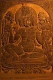 BAGAN, MYANMAR - MAY 4 ,2013 -  Buddha carving in Temple, Bagan, Royalty Free Stock Photo