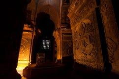 BAGAN, MYANMAR - MAY 4 ,2013 -  Buddha carving in Temple, Bagan, Royalty Free Stock Photos