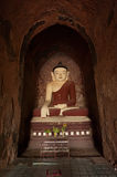 BAGAN, MYANMAR - MAY 4: Buddha statue inside ancient pagoda Royalty Free Stock Photo