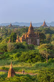Beautiful ancient pagodas in Bagan during sunrise, Myanmar Royalty Free Stock Photos