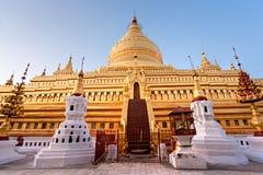 bagan Myanmar pagody shwezigon Fotografia Royalty Free