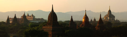 Bagan Myanmar. Panorama Bagan temple,Myanmar country Royalty Free Stock Photography