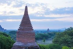 The Temples of bagan Myanmar. BAGAN , MYANMAR - SEP 04 2017: The Temples of bagan in Myanmar on September 04 2017 , The ruins of Bagan has 2,200 temples and Royalty Free Stock Photo