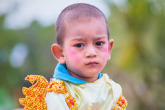 Bagan,Myanmar : Unidentify Myanmar child in Festival Procession. Stock Images