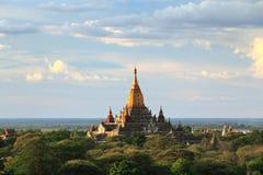 bagan Myanmar wschód słońca świątynie Obraz Royalty Free