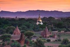 bagan Myanmar wschód słońca świątynie Obrazy Stock