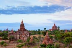 bagan Myanmar wschód słońca świątynie Zdjęcia Royalty Free