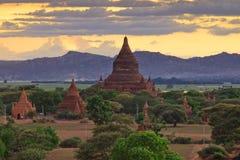 bagan Myanmar wschód słońca świątynie Obraz Stock