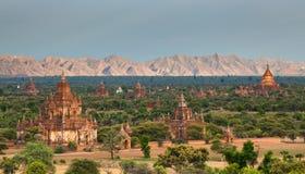 bagan Myanmar zmierzchu świątynie Obraz Stock