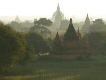 Bagan no nascer do sol. Imagens de Stock Royalty Free