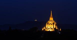 Bagan pagoda at twilight, Myanmar Royalty Free Stock Image