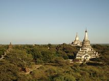 Bagan pagoda view point Stock Photo