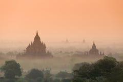bagan pagodas Arkivfoton