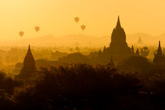 Bagan pagodas in Myanmar. Royalty Free Stock Photography