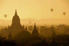 Bagan pagodas in Myanmar. Stock Photography