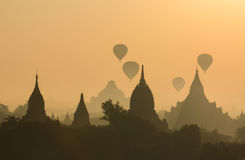 Bagan pagodas Royalty Free Stock Photo