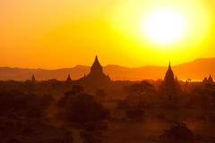 Bagan pagodas at sunrise Stock Photo