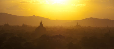 Bagan-Panorama Stockfotos