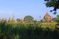 bagan panorama för general myanmar Arkivbild