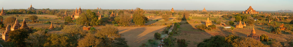 Bagan panorama, Myanmar Stock Photos