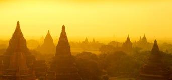 Bagan panoramy wschód słońca Obraz Stock