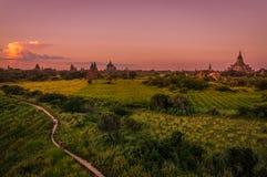 bagan solnedgång Arkivfoton