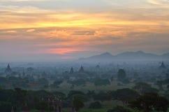 Bagan Sonnenuntergang, Myanmar Lizenzfreie Stockbilder