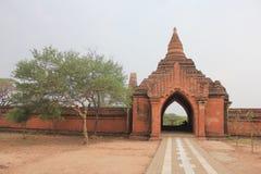 Bagan. Sulamani temple wall and gate ,Bagan Myanmar Royalty Free Stock Photo