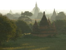 Bagan at sunrise. Royalty Free Stock Images