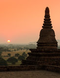 Bagan at sunrise, Myanmar Stock Photos