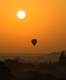 Bagan at sunrise , Myanmar stock images